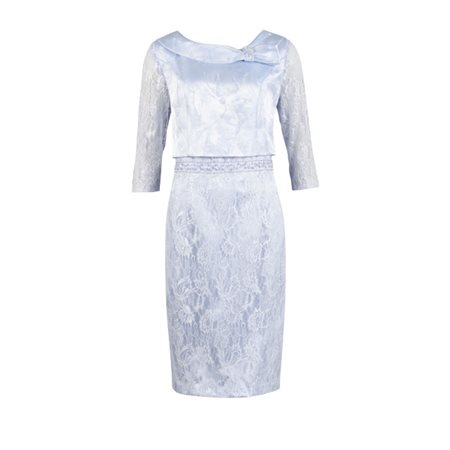 Zeila Pale Blue Lace Dress  - Click to view a larger image