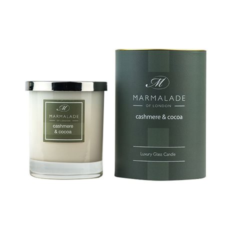 Marmalade Of London Cashmere & Cocoa Large Glass Candle  - Click to view a larger image
