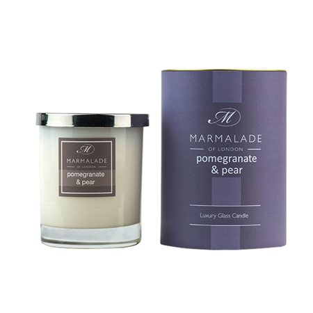 Marmalade Of London Pomegranate & Pear Large Glass Candle  - Click to view a larger image