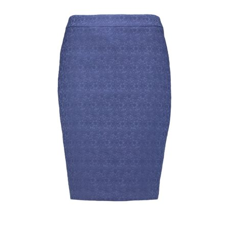 Taifun Lace Effect Lined Skirt Blue  - Click to view a larger image