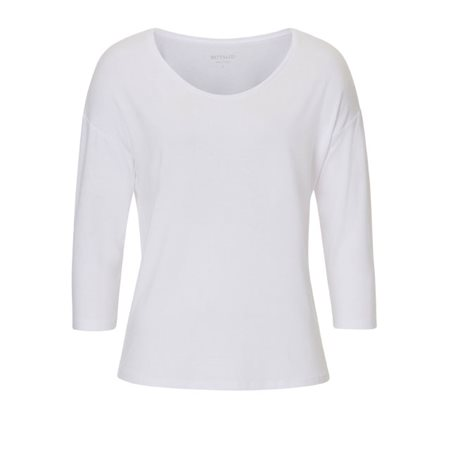 Betty & Co Long Sleeved Top White  - Click to view a larger image