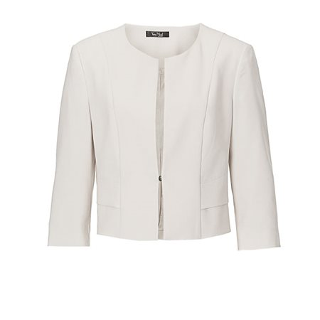 Vera Mont Lapel Jacket Cream  - Click to view a larger image