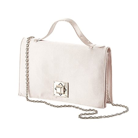 Vera Mont Bag With Square Lock Taupe  - Click to view a larger image