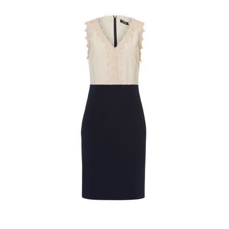 Vera Mont Lace Detailed Dress Navy  - Click to view a larger image