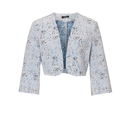 Vera Mont Printed Bolero Powder Blue  - Click to view a larger image