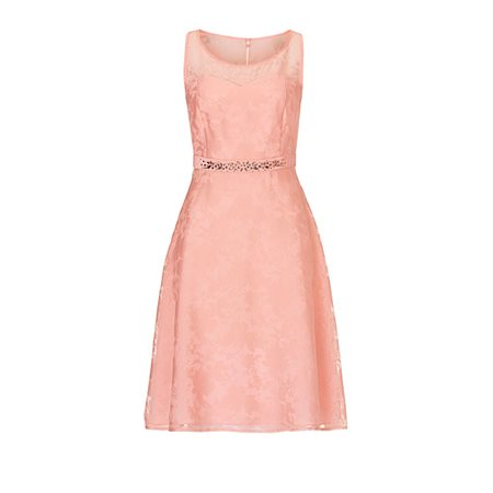 Vera Mont Jewelled Dress Pink  - Click to view a larger image