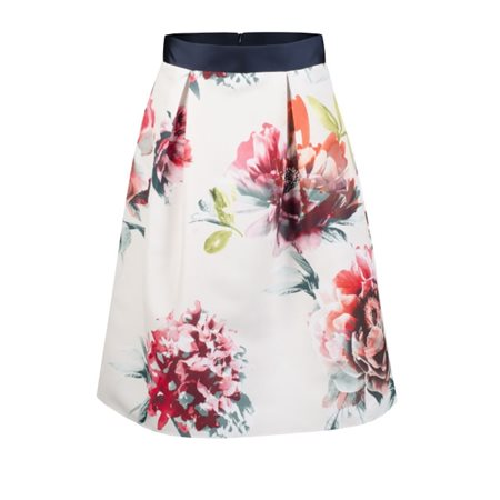 Fee G Floral Print Full Bodied Skirt  - Click to view a larger image