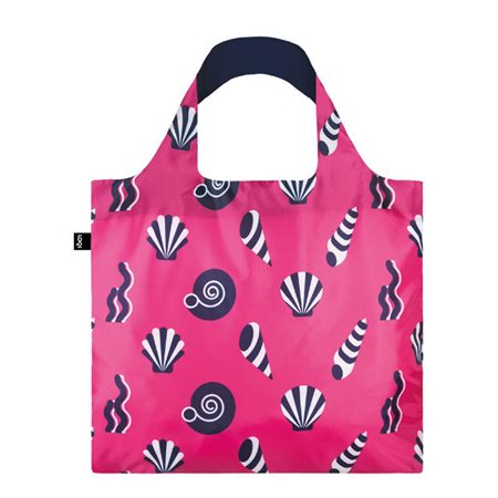 Loqi Bag Nautical Shells Pink  - Click to view a larger image