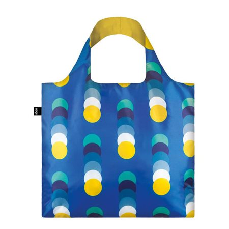 Loqi Bag Geometric Circles Blue  - Click to view a larger image