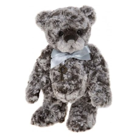 Charlie Bears Tiddles Plush Grey  - Click to view a larger image