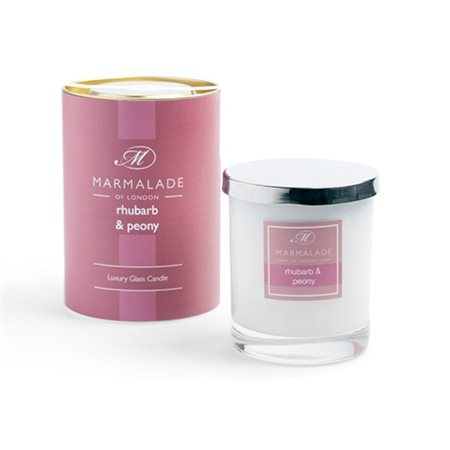 Marmalade Of London Rhubarb & Peony Glass Candle  - Click to view a larger image