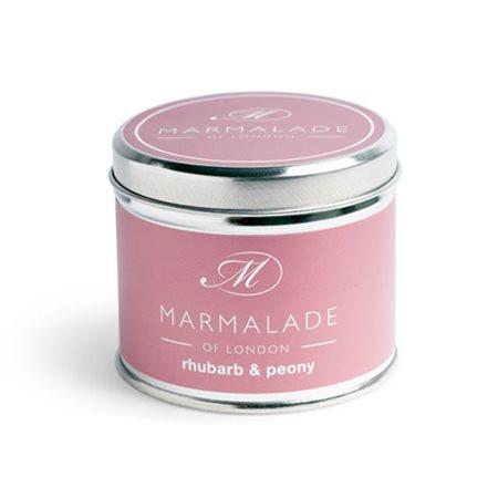 Marmalade Of London Rhubarb & Peony Tin Candle Medium  - Click to view a larger image