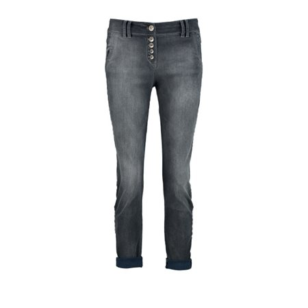 Taifun Button Fly Jeans Dove Grey  - Click to view a larger image