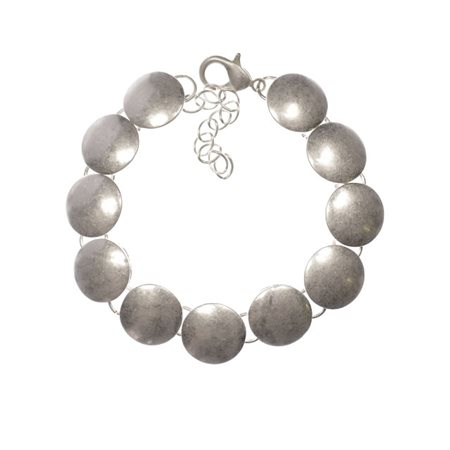 Hot Tomato Silver Smarties Bracelet Silver  - Click to view a larger image