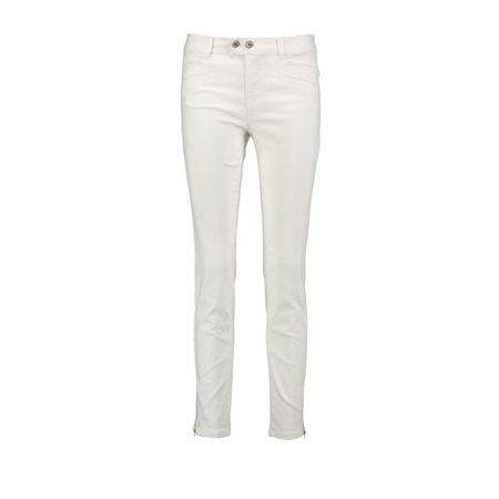 Taifun Hanna Super Skinny Jeans With Zips White  - Click to view a larger image