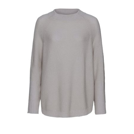 Monari Funnel Neck Jumper Grey  - Click to view a larger image
