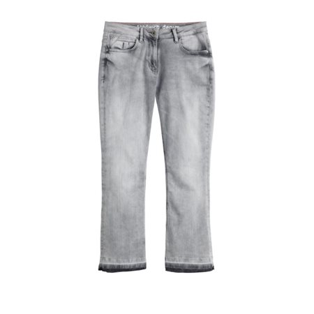 Sandwich Clothing Bleached Cropped Jeans Grey  - Click to view a larger image