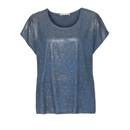 Monari Sequin Top Blue  - Click to view a larger image