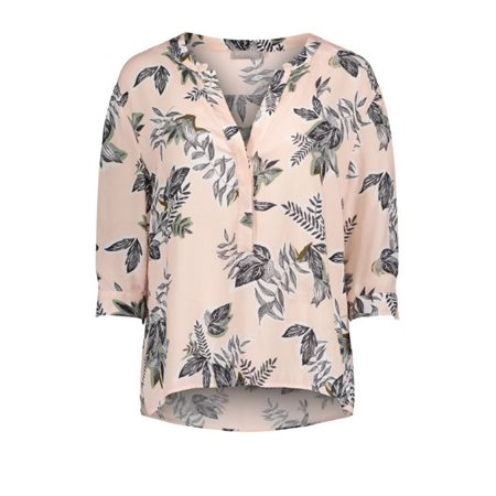 Betty & Co Botanical Print Blouse Blush  - Click to view a larger image