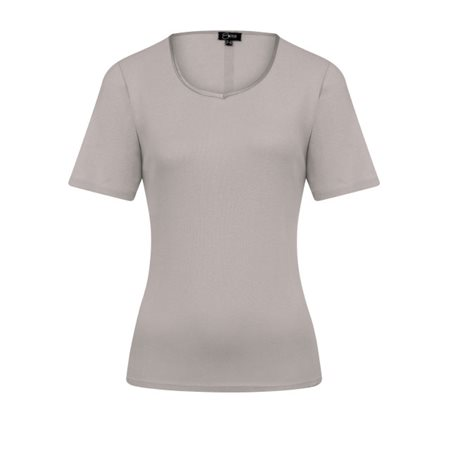 Emreco Sweetheart Neck Top Grey  - Click to view a larger image
