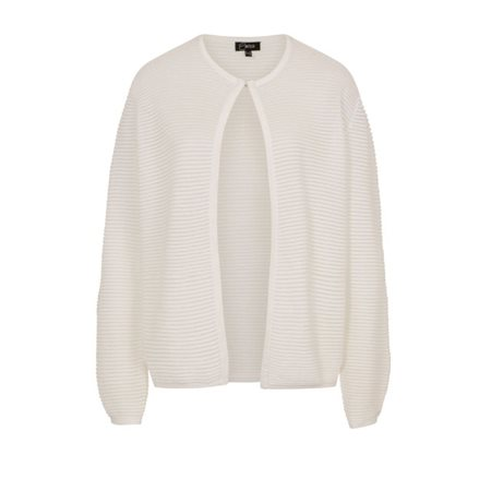 Emreco Sheer Edge To Edge Cardigan White  - Click to view a larger image