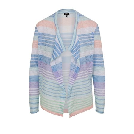 Emreco Waterfall Stripe Cardigan Blue  - Click to view a larger image