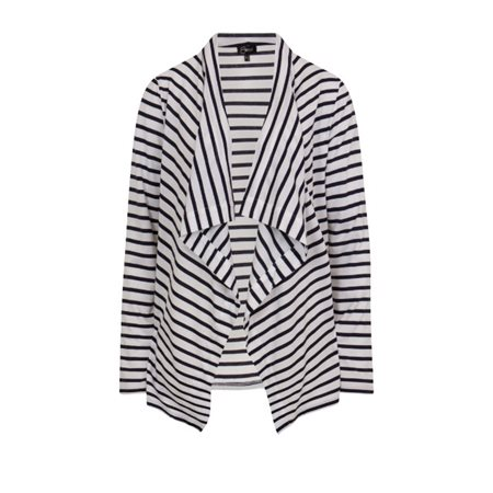 Emreco Striped Waterfall Cardigan Navy  - Click to view a larger image
