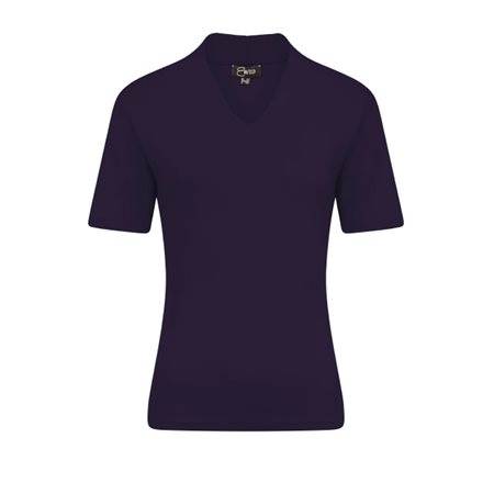 Emreco Short Sleeved High Neck Top Navy  - Click to view a larger image