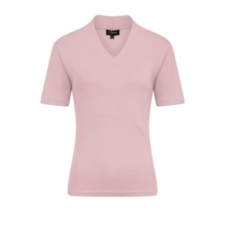 Emreco Short Sleeved High Neck Top Rose  - Click to view a larger image