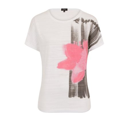 Emreco Orchid Print Top Charcoal  - Click to view a larger image