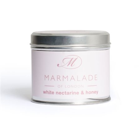 Marmalade Of London White Nectarine & Honey Medium Tin Candle  - Click to view a larger image