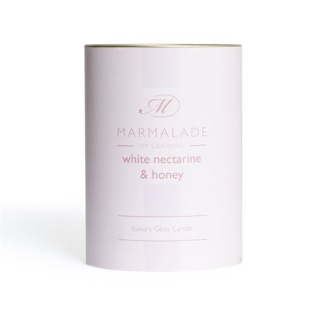 Marmalade Of London White Nectarine & Honey Glass Candle  - Click to view a larger image