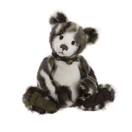 Charlie Bears Higgle Plush Collection Grey And White  - Click to view a larger image