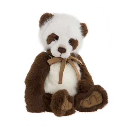 Charlie Bears Karl The Panda Plush Collection Brown & White  - Click to view a larger image