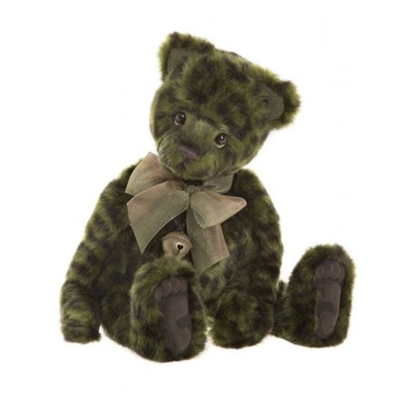 Charlie Bears Lime Pickle Teddy Bear Plush Collection Lime Green  - Click to view a larger image