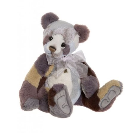 Charlie Bears Raggle Panda Plush Collection Lilac  - Click to view a larger image
