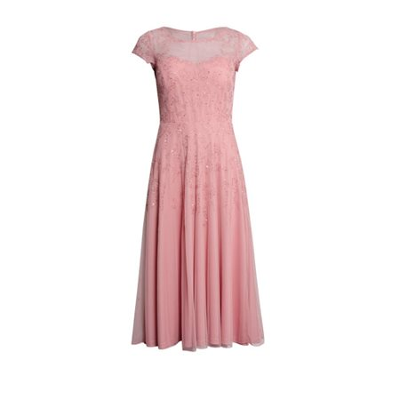 Vera Mont Beaded Swing Dress Blush  - Click to view a larger image