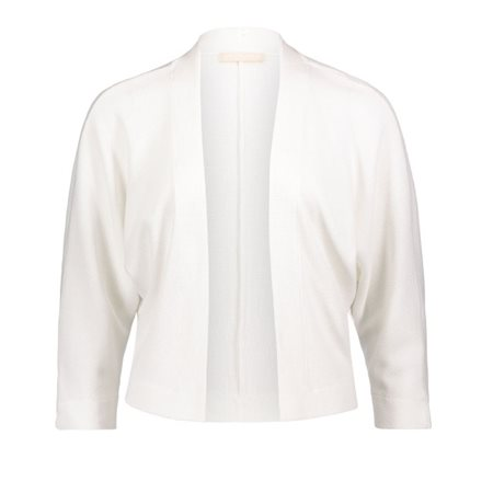 Betty & Co Waffle Finish Jacket Off White  - Click to view a larger image