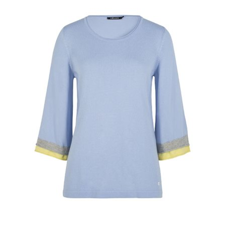 Olsen Double Cuff Pullover Blue  - Click to view a larger image