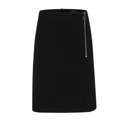 Olsen Wrap Effect Short Skirt Black  - Click to view a larger image
