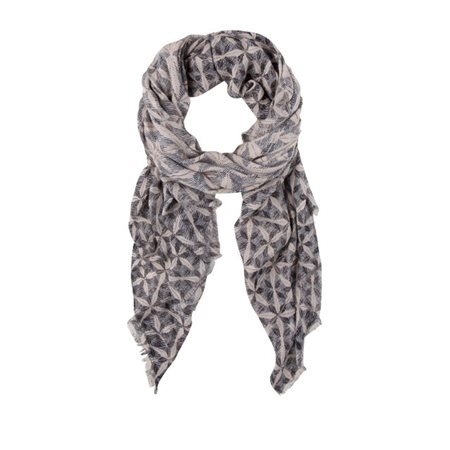 Olsen Woven Printed Scarf Night Blue  - Click to view a larger image