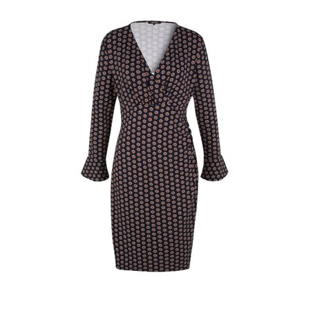 Olsen Wrap Effect Jersey Dress Navy  - Click to view a larger image