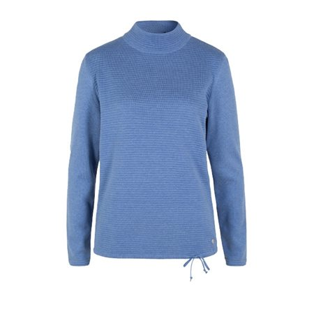 Olsen Funnel Neck Pullover Blue  - Click to view a larger image