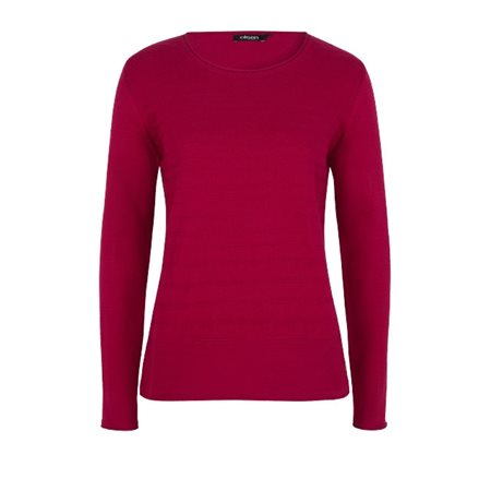 Olsen Round Neck Pullover Scarlet  - Click to view a larger image