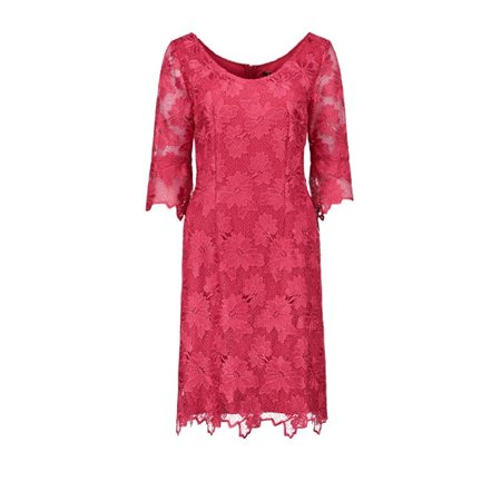 Vera Mont Lace Dress Cherry Red  - Click to view a larger image