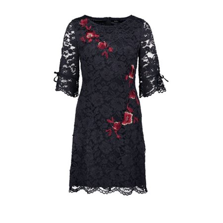Vera Mont Lace Dress Navy  - Click to view a larger image