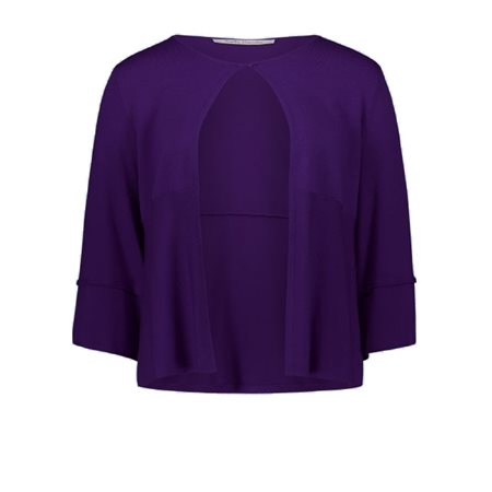 Betty Barclay Knitted Cardigan Purple  - Click to view a larger image
