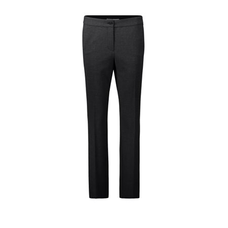 Betty Barclay Check Trousers Charcoal  - Click to view a larger image