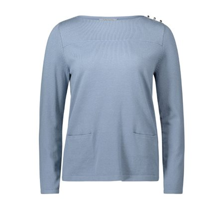 Betty Barclay Soft Knit Top Blue  - Click to view a larger image