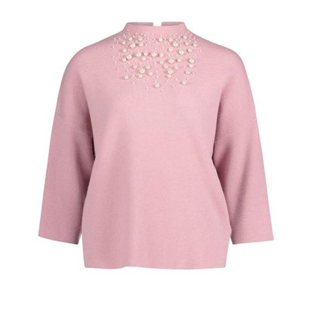 Betty Barclay Pearl Embellished Jumper Pink  - Click to view a larger image